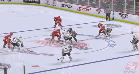 Tekningarna är klart bäst i NHL 2K9.